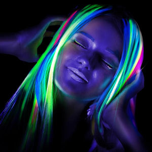 Neon UV Semi Permanent Hair Dye Streaks Multi-Pack