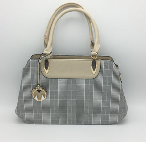 Houndstooth pattern shoulder bag