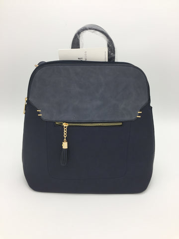 Front tassel zip backpack