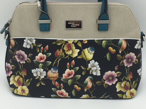 Image of David Jones floral print shoulder bag