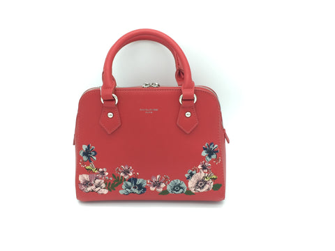 Floral embroidered detail shoulder bags