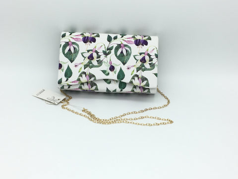 Flower printed clutch bag