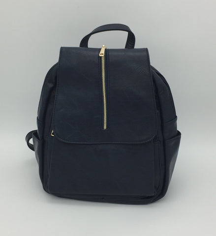 Zip front flap backpack