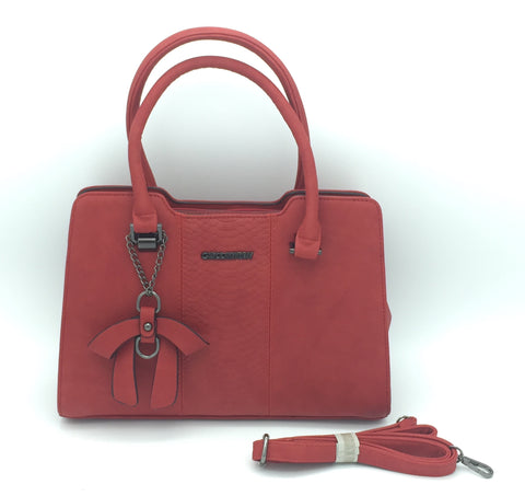 Image of Two handle shoulder bag secured with zip