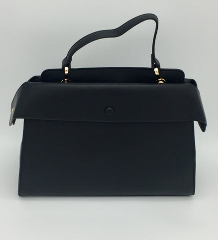 Black detailed shoulder bag
