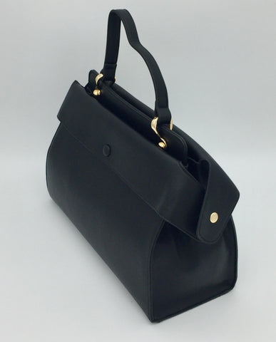 Image of Black detailed shoulder bag