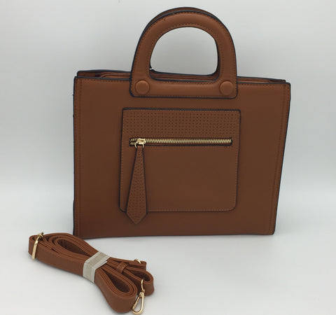 Two handle shoulder bag. Long strap included