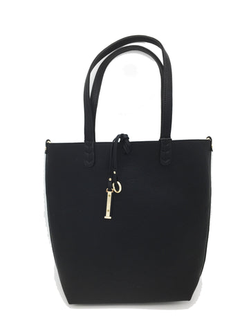 Image of Two handle shoulder bag. Long strap included