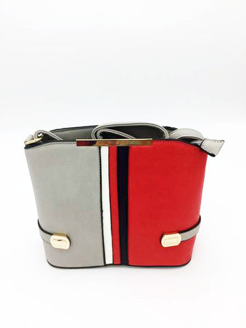 Image of Striped detail cross body bag