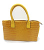 Image of Croc embossed shoulder bag with double handle