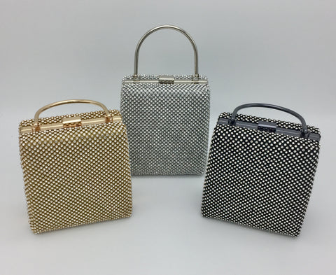 Rhinestone decor evening bag
