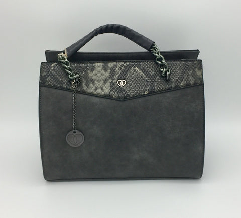 Image of Snakeskin PU shoulder bag