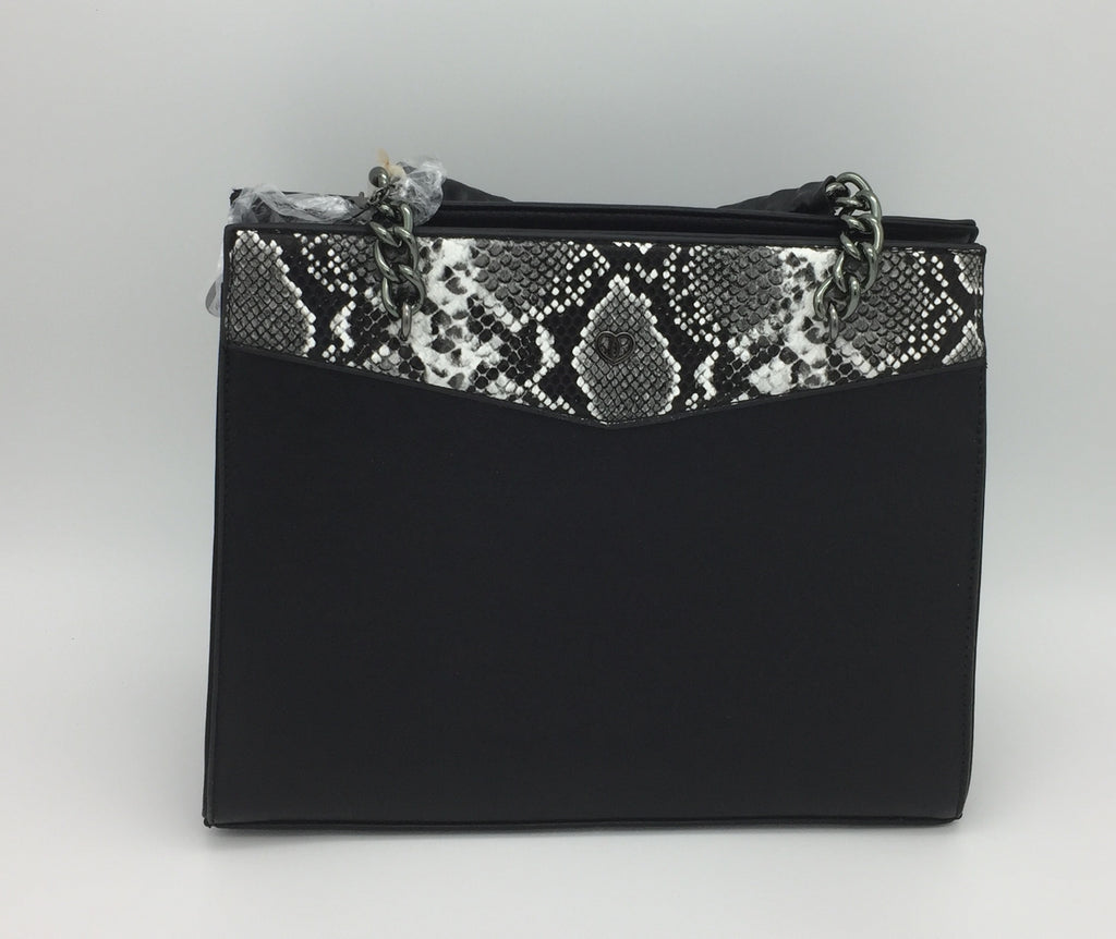 Snakeskin PU shoulder bag