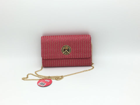 Image of Woven straw effect clutch bags