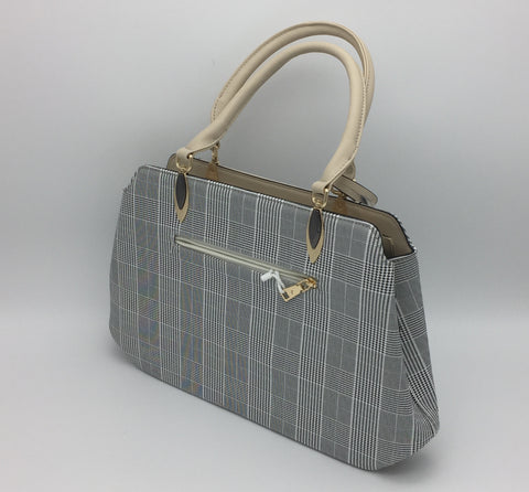Image of Houndstooth pattern shoulder bag