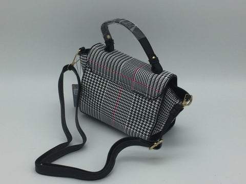 Houndstooth side bag