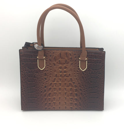 Croc embossed shoulder bags