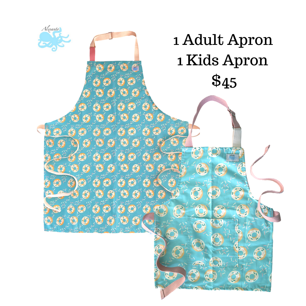Mommy and Me Donut Apron Set