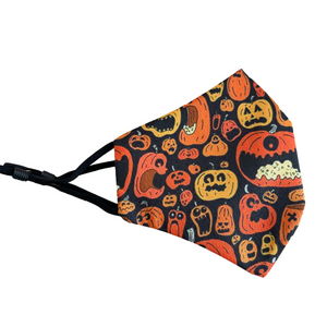 "Face Mask with Filter Pocket ""Crazy Pumpkin """