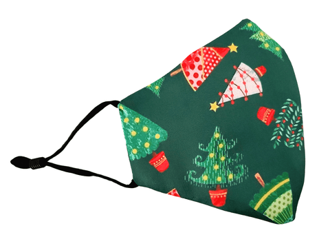"Christmas Face Mask No lights ""Christmas Tree"" - Alexanto Aprons"