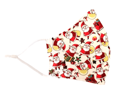 "Christmas Face Mask No lights ""Santa"" - Alexanto Aprons"