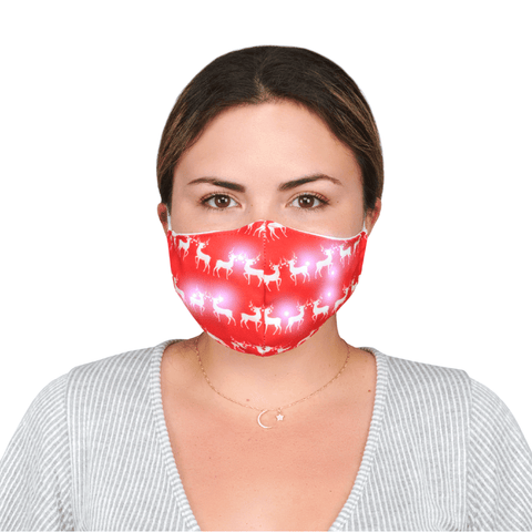 "Christmas Face Mask with lights ""Reindeer"" - Alexanto Aprons"