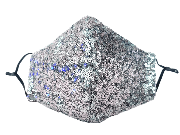 "Face Mask ""Charcoal Sequin"" - Alexanto Aprons"