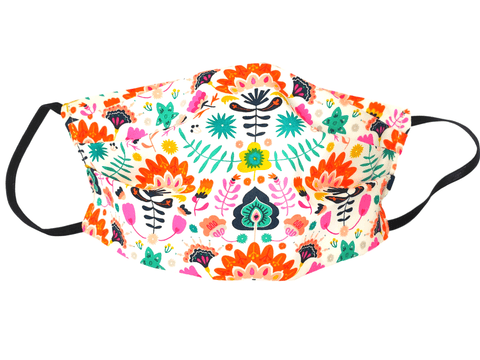 Face Mask Folk Flowers - Alexanto Aprons