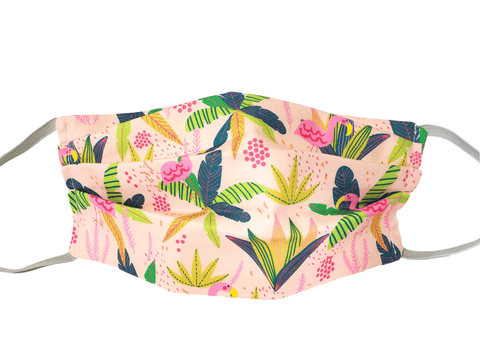 Face Mask Pink Jungle - Alexanto Aprons