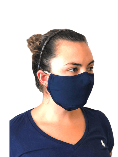 Face Mask with Filter Pocket Navy Blue! - Alexanto Aprons
