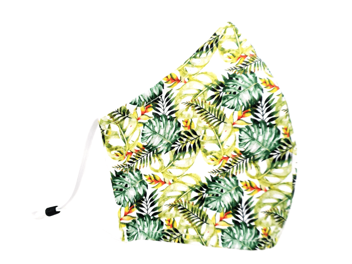 "Face Mask with Filter Pocket ""Palm Fronds"" - Alexanto Aprons"
