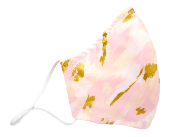 "Face Mask with Filter Pocket ""Pink Marble"" - Alexanto Aprons"