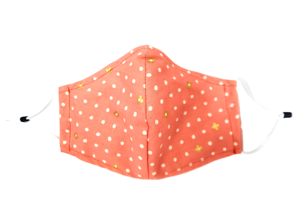 "Face Mask with Filter Pocket ""Polka Dot"" - Alexanto Aprons"