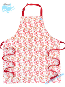 "Home Chef Apron ""Fire Coral"""