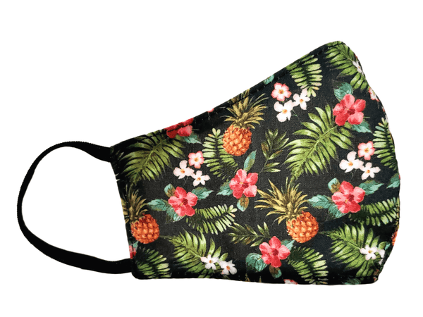 "Kid's Face Mask ""Pineapple"" 3 pack - Alexanto Aprons"