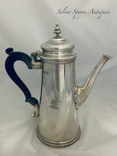 Load image into Gallery viewer, English Sterling George I Style Coffee Pot, London, 1913