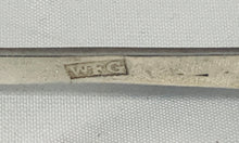 Load image into Gallery viewer, Irish Provincial Fiddle Pattern Sugar Tongs, William Fitzgerald, LIMERICK, c. 1810-1820