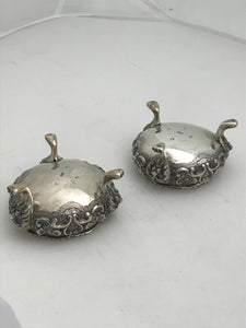 Pair of Scottish Salts, Lions Head design, Glasgow 1844
