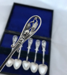 Set of Vintage Australian Gumnut Sterling Coffee Spoon, LINTON, Perth, 1930s-50s