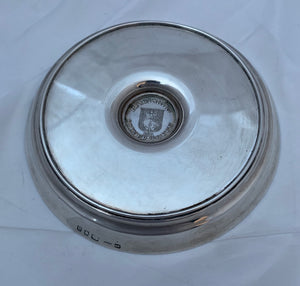 Art Deco Nautical Theme Silver Dish, HG Murphy, 1933