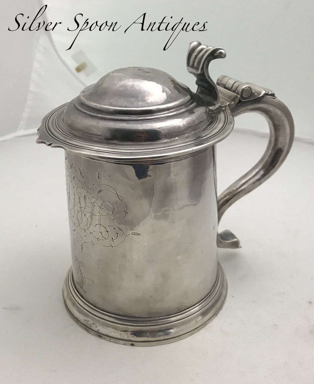Queen Anne Britannia Standard Silver Tankard, William GAMBLE, London, 1709