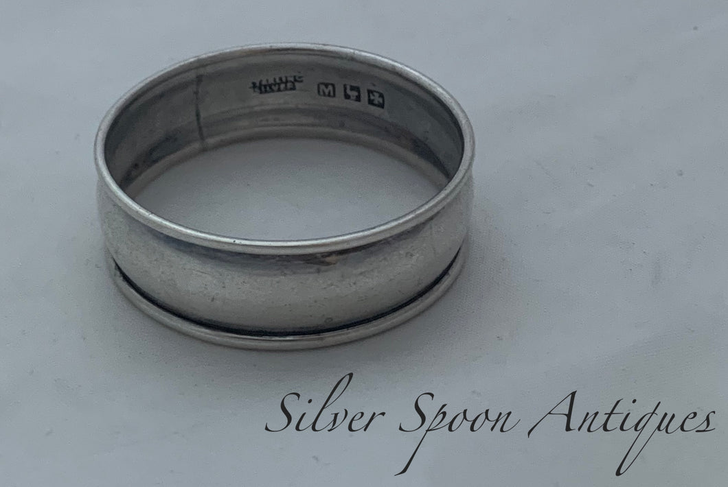 Queensland Made Sterling Serviette Ring, FJ Mole, Brisbane, 1930s