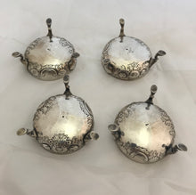 Load image into Gallery viewer, RARE Set of Four Irish Provincial Salts, George HODDER, Cork, 1760s