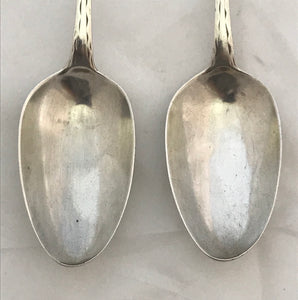 Pair of Irish Provincial Table Spoons, Carden TERRY, Cork, 1790