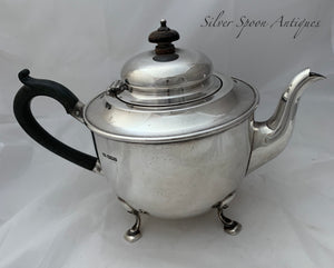 Heavy English Sterling Teapot, Sheffield, 1928