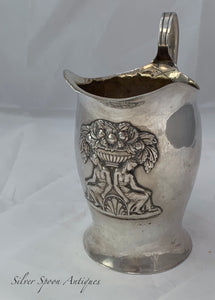 European Milk Jug, Neoclassical Imagery, c.1820s