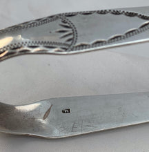 Load image into Gallery viewer, Pair of Newcastle Bright-cut Sugar Tongs, Thomas WATSON, c.1800