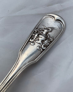 Rare Scottish 'Private Die' Fiddle and Thread teaspoon, GRAY & SON, Glasgow, 1833