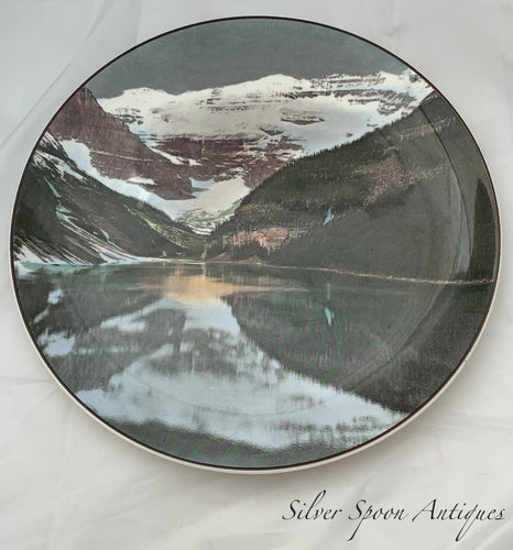 Royal Doulton Cabinet Plate, Canadian Series 'Lake Louise & Victoria Glacier', 1950s
