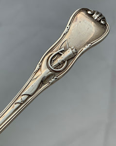 Stag Hunt Pattern Sifting Spoon, London, John & Henry LIAS, 1876